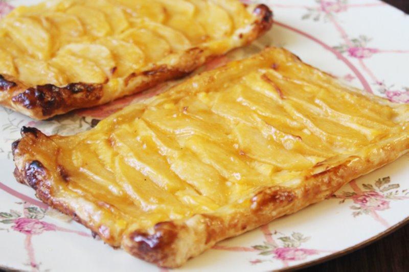 Tarta de manzana con masa de hojaldre