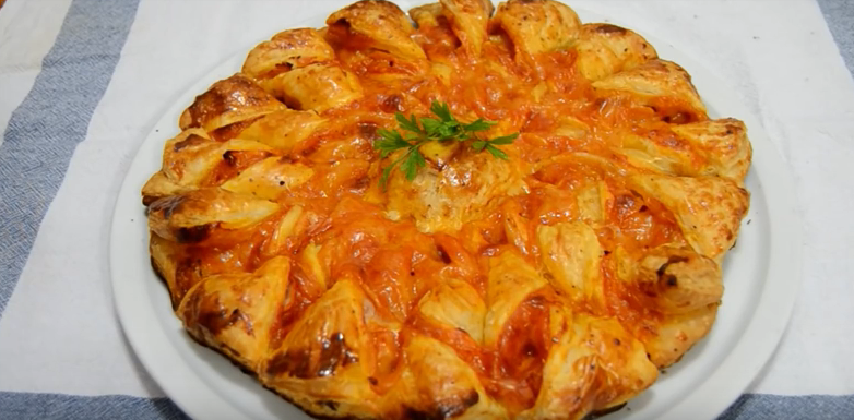Estrella de jamón y queso
