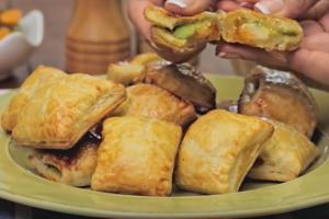 Bocadillos de queso con aguacate